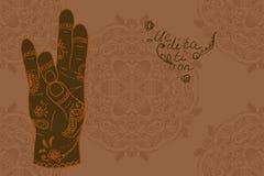 Elementyoga Prithivi-mudra Hände Stockfoto