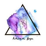 Elementyoga Prithivi-mudra Hände Lizenzfreie Stockbilder