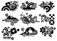 Elemetnts DIX-NEUF de Techno illustration libre de droits