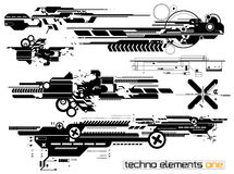 Elemetnts Techno установили одно Стоковые Фотографии RF