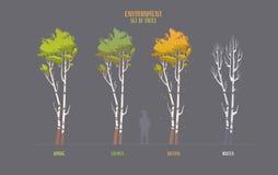 Elemets de vecteur d'environnement pour le jeu illustration stock