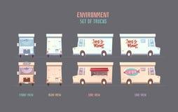 Elemets di vettore dell'ambiente per il gioco immagini stock libere da diritti