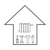 Elemets Hvac и комплекта топления иллюстрация вектора