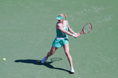Elena Dementieva at the 2010 BNP Paribas Open Stock Photos