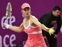 Elena Dementieva plays forehand Royalty Free Stock Photography