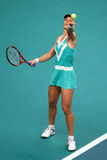 Elena DEMENTIEVA (RUS) at Open GDF Suez 2010 Royalty Free Stock Photography