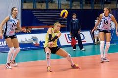 Elena Ezhova (3) in action Stock Photo