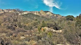 Elena Gallegos Open Space in Albuquerque. At an elevation of 6500 feet, this 640-acres park sits at the base of the Sandia mountains in Albuquerque, New Mexico Stock Images