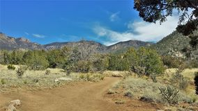 Elena Gallegos Open Space in Albuquerque. At an elevation of 6500 feet, this 640-acres park sits at the base of the Sandia mountains in Albuquerque, New Mexico Royalty Free Stock Photography