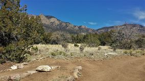 Elena Gallegos Open Space. At an elevation of 6500 feet, this 640-acres park sits at the base of the Sandia mountains in Albuquerque, New Mexico Stock Photo
