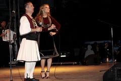 Elena Gheorghe and Gica Coada singing Stock Photo