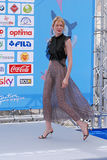 Elena Radonicich στο φεστιβάλ 2016 ταινιών Giffoni στοκ φωτογραφίες με δικαίωμα ελεύθερης χρήσης