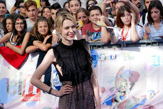 Elena Radonicich στο φεστιβάλ 2016 ταινιών Giffoni στοκ εικόνες