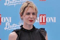 Elena Radonicich al festival cinematografico 2016 di Giffoni Immagini Stock