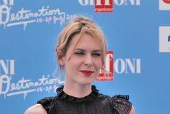 Elena Radonicich al festival cinematografico 2016 di Giffoni Fotografia Stock