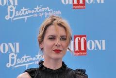 Elena Radonicich en el festival de cine 2016 de Giffoni Fotografía de archivo