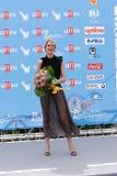 Elena Radonicich en el festival de cine 2016 de Giffoni Fotografía de archivo libre de regalías