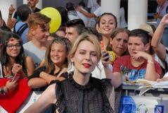 Elena Radonicich en el festival de cine 2016 de Giffoni Foto de archivo libre de regalías