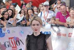Elena Radonicich en el festival de cine 2016 de Giffoni Imagen de archivo