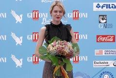 Elena Radonicich at Giffoni Film Festival 2016. Giffoni Valle Piana, Sa, Italy - July 16, 2016 : Elena Radonicich at Giffoni Film Festival 2016 - on July 16 Royalty Free Stock Photography