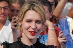 Elena Radonicich at Giffoni Film Festival 2016. Giffoni Valle Piana, Sa, Italy - July 16, 2016 : Elena Radonicich at Giffoni Film Festival 2016 - on July 16 Stock Photo