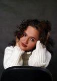Elena's portrait. Portrait of the lovely girl in studio stock image