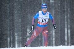 Elena Soboleva - esqui do corta-mato Imagem de Stock Royalty Free