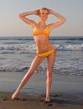 Elena sur la plage images libres de droits