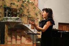 Elena Ursuliak, chanteur d'opéra d'état Image stock