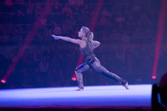 Elena Zamolodchikova, πολλαπλάσιος πρωτοπόρος γυμναστικής στοκ εικόνα