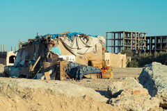 Elendsviertel in Ägypten-Stadt Stockfotos