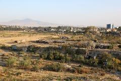 Elendsviertel in Addis Abeba, Äthiopien Lizenzfreies Stockfoto