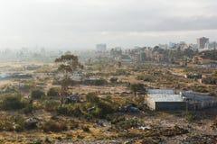 Elendsviertel in Addis Abeba, Äthiopien Stockfoto