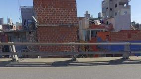 Elendsviertel in Buenos Aires, Argentinien stock footage