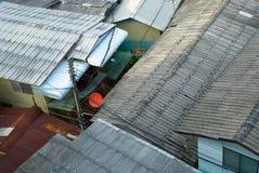 Elendsviertel-Dach von der Draufsicht Stockbild