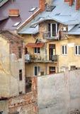 Elendsviertel in der Stadt Stockbild