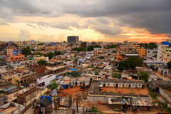 Elendsviertel in Hyderabad Lizenzfreie Stockfotos