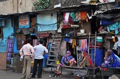 Elendsviertel in Indien Stockfotografie