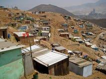 Elendsviertel, Südamerika lizenzfreie stockfotografie