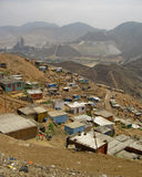 Elendsviertel, Südamerika, Lima stockbild