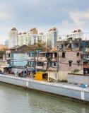 Elendsviertel von Shanghai, China Lizenzfreies Stockbild