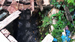 Elendsviertelabwasserkanal Lizenzfreie Stockbilder