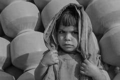 Elendsviertelporträt Indien Stockbilder