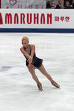 Elene Gedevanishvili, Georgian figure skater. MOSCOW, RUSSIA - APRIL 30: Elene Gedevanishvili competes in the single ladies free figure event during the 2011 stock photo