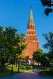 Eleninskayatoren van Moskou het Kremlin Een populaire toeristenbestemming Rusland Royalty-vrije Stock Foto