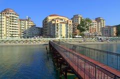 Elenite-Erholungsort-Strandansicht, Bulgarien Lizenzfreies Stockfoto