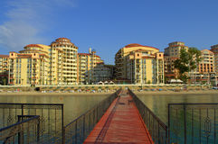 Elenite-Erholungsort-Strandansicht, Bulgarien Lizenzfreie Stockfotos