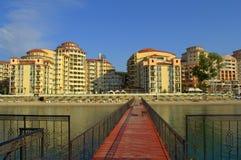 Elenite kurortu plaży widok, Bułgaria Zdjęcia Royalty Free