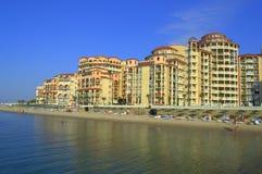 Elenite resort beach view,Bulgaria royalty free stock photos