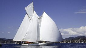 Eleonora. Large classic sailing yacht Eleonora with all sails out in a breeze Royalty Free Stock Photos